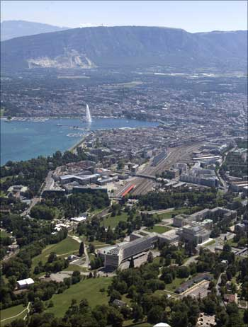 The city of Geneva, Switzerland.