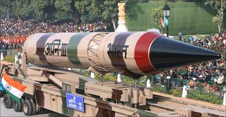 Agni III missile.